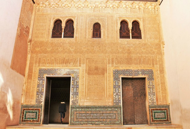 Charlie through the doorway Alhambra Granada Spain - Charlie on Travel 1200