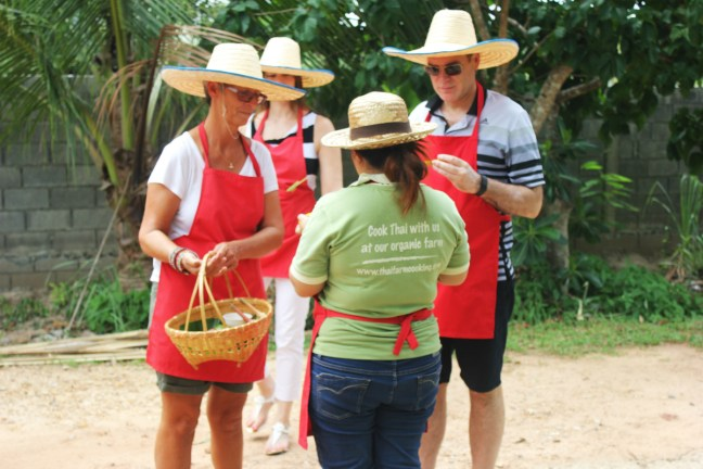 Learning about herbs at Thai Farm Cooking Class in Chiang Mai - Charlie on Travel