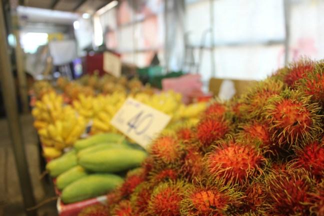 Rambutans in a Thai market