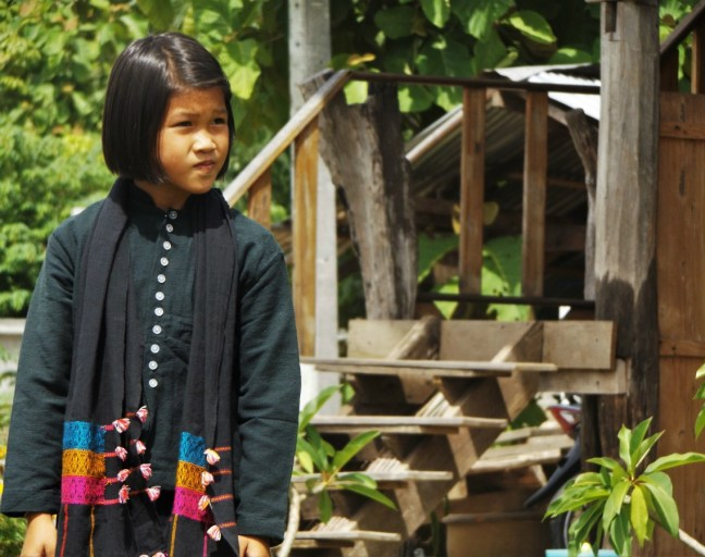 Tai Dam Village Thailand Loei Province - girl in traditional clothes - Charlie on Travel