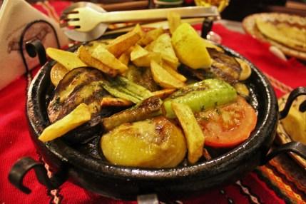 Vegetable hot plate