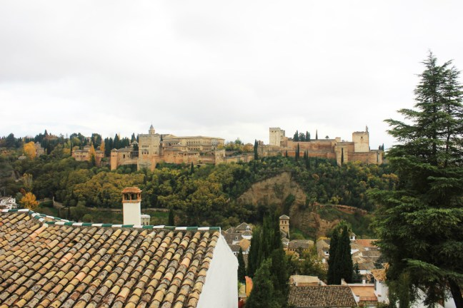 View of Alhambra from San Nicholas Granada Spain - Charlie on Travel