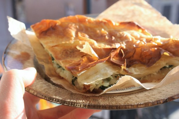 Cheese and Spinach Burek in Macedonia