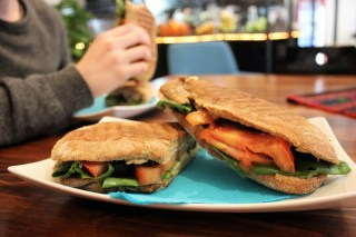 Vegan Sandwich at Squeeze Me in Skopje Macedonia - Charlie on Travel