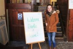 Hostel Old Plovdiv Welcome sign - Plovdiv Bulgaria - Charlie on Travel