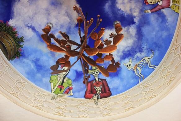 Casa de los Venados ceiling Valladolid Mexico - Charlie on Travel