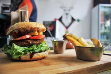 Vegetarian in Mexico City - vegan BBQ burger