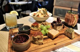 Vegan cheeseboard at Purezza