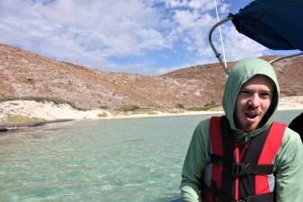 Swimming with Sea Lions at Isla Espiritu Santo La Paz Mexico in a boat