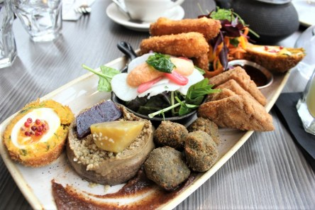 Vegetarian lunch sharing platter