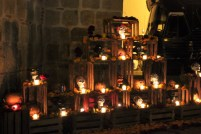 Oaxaca Mexico Day of the Dead candles