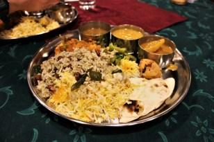 Vegetarian Indian buffer food