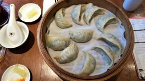 Vegetarian dumplings at Din Tai Fung