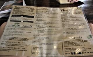 Birds Nest Cafe menu 2 - Vegan Chiang Mai Guide