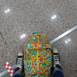 I miss travelling with just this bag and my good friend Shelby