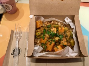 Sweet potato, kale & okra stew