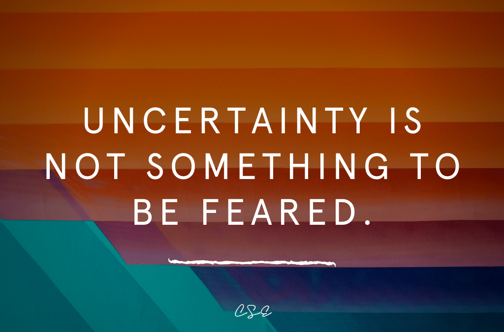 uncertainty is not something to be feared