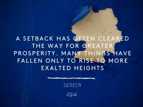 A setback - seneca