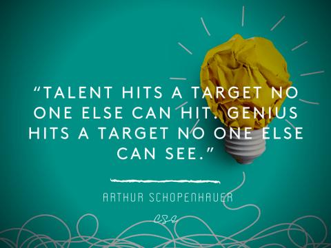talent hits a target - Arthur Schopenhauer