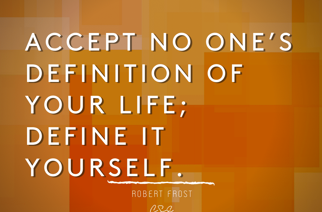accept no one - robert frost