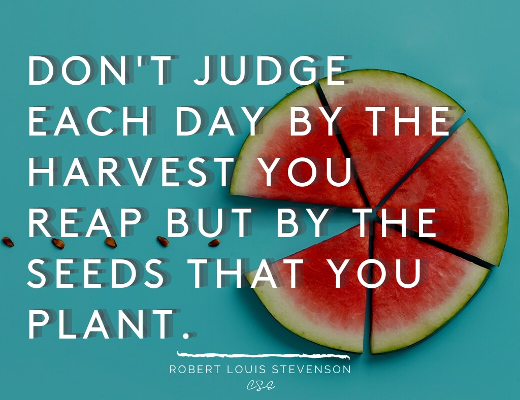 Alder Koten - Executive Search Consultant - Mexico - USA - Don't judge each day by the harvest Motivation - Inspiration