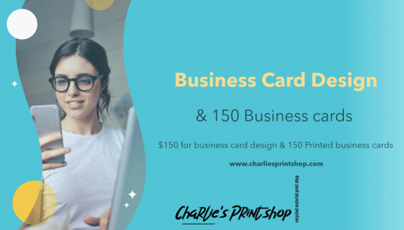 charlies Print shop business cards