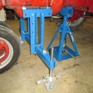 The 4-way Jack stand holds rear safely.