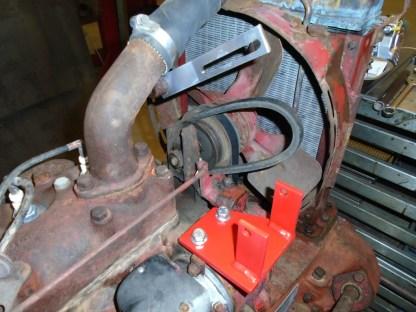 Hitachi Mounting brackets on Farmall CUB