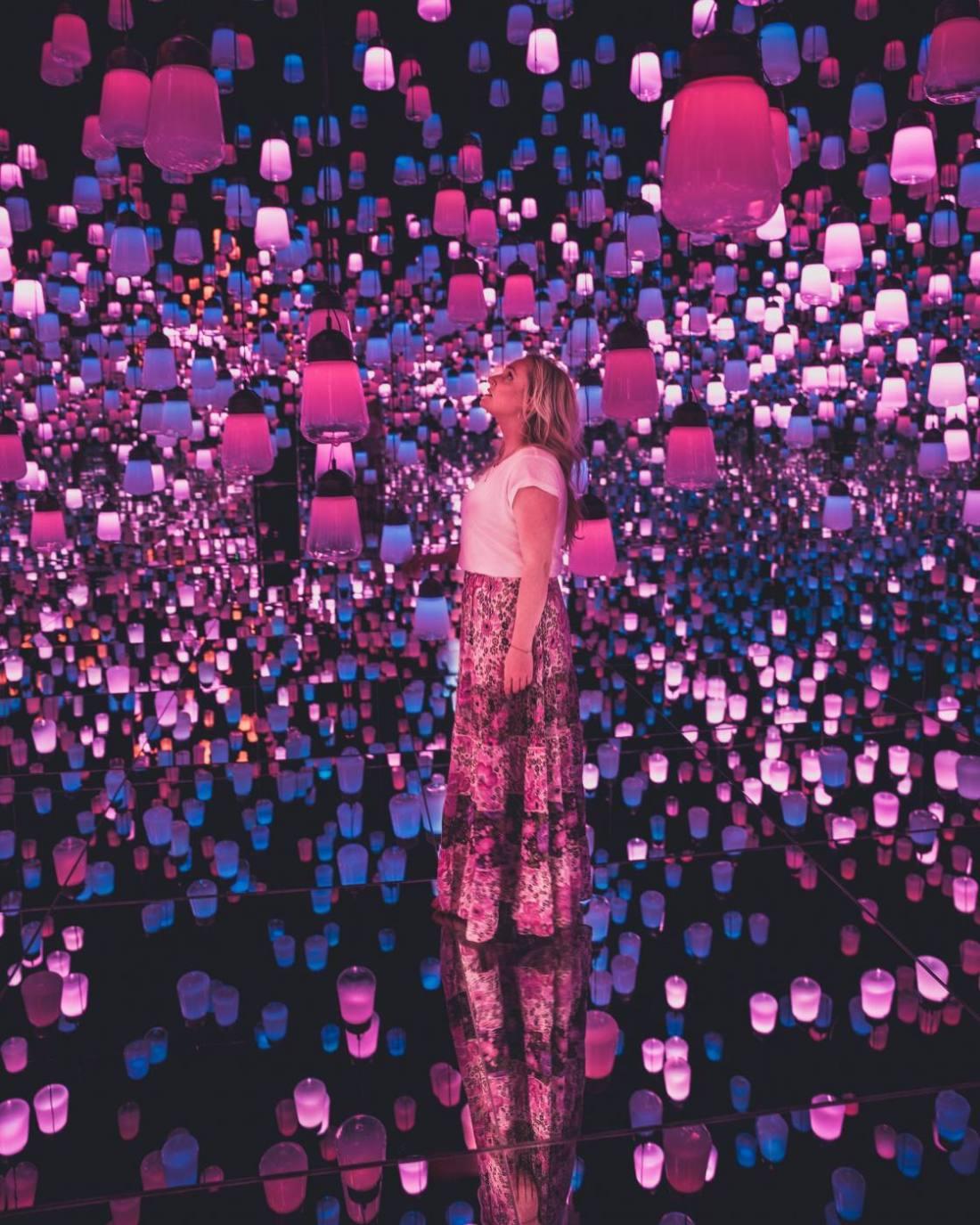 How to visit teamLab Borderless in Japan or ArtScience Museum in Singapore?