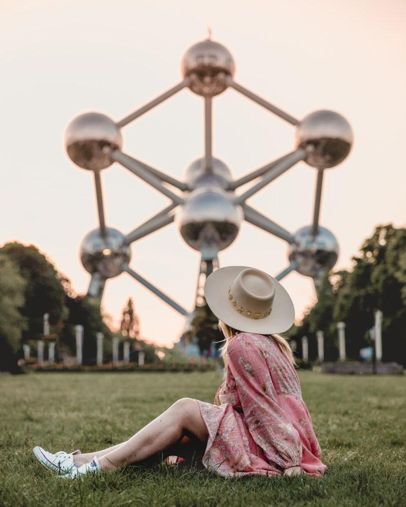 sunset at Atomium