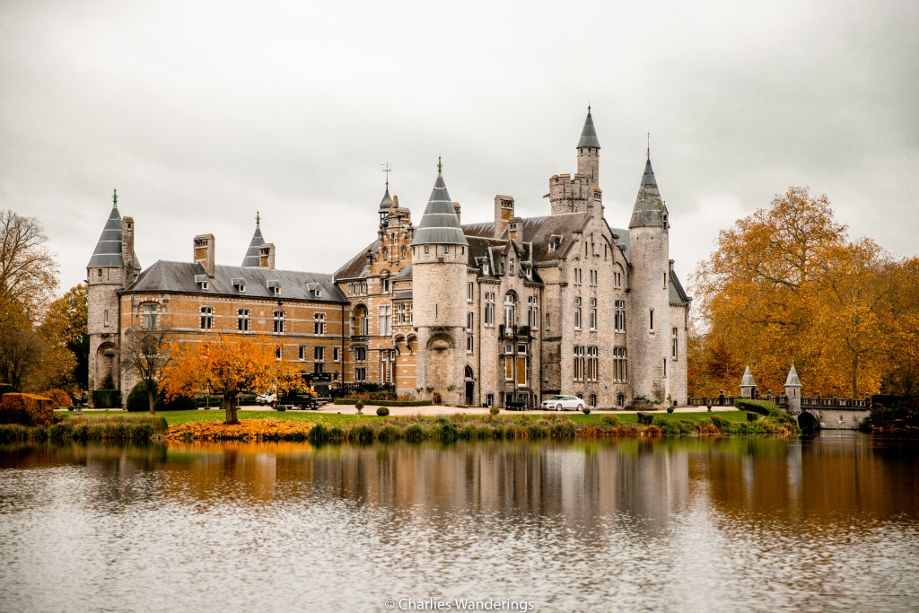 Fall at Bornem castle in Belgium