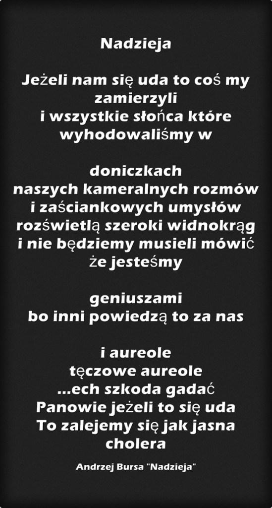 Andrzejowi Bursie Ku Pamięci Blog Charliego Bibliotekarza