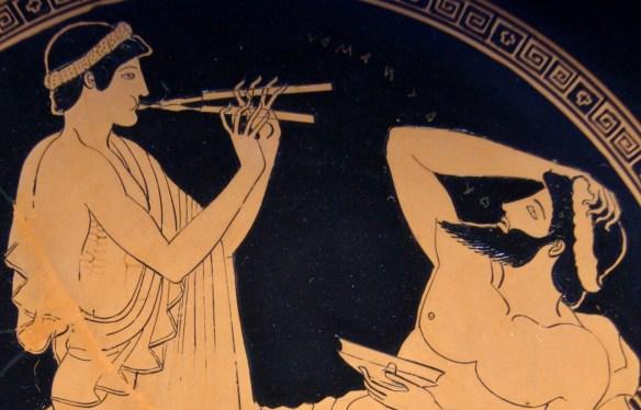 U Platona nie pograsz sobie nawet na flecie (Boże mam taki zryty beret, że to zdanie nie brzmi niewinnie). Źródło:  http://shot.holycross.edu/nsmith/events/music.html