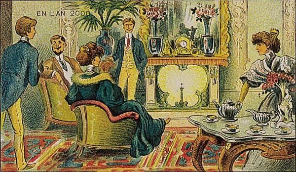 Rysunki w poście będą idealnie oddawać nastrój książki. Źródło: http://www.paleofuture.com/blog/2007/9/10/french-prints-show-the-year-2000-1910.html