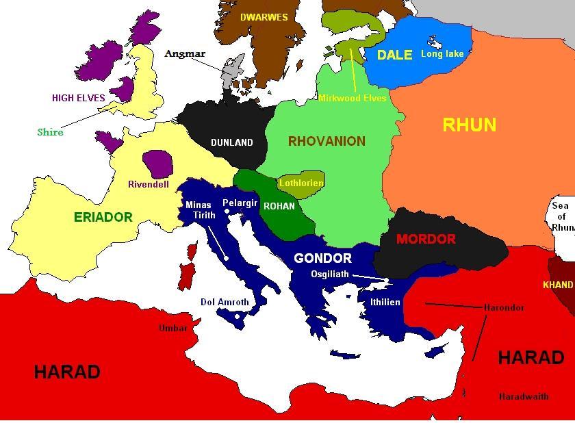 Według różnych ekspertów ta mapa dokłaniej obrazuje to w jaki sposób widział Tolkien Europę i Śródziemie.
