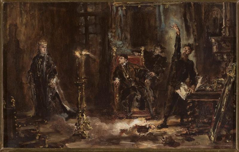 Tym razem Twardowski podług wizji Mistrza Jana. Źródło: http://cyfrowe.mnw.art.pl/dmuseion/docmetadata?id=3056#