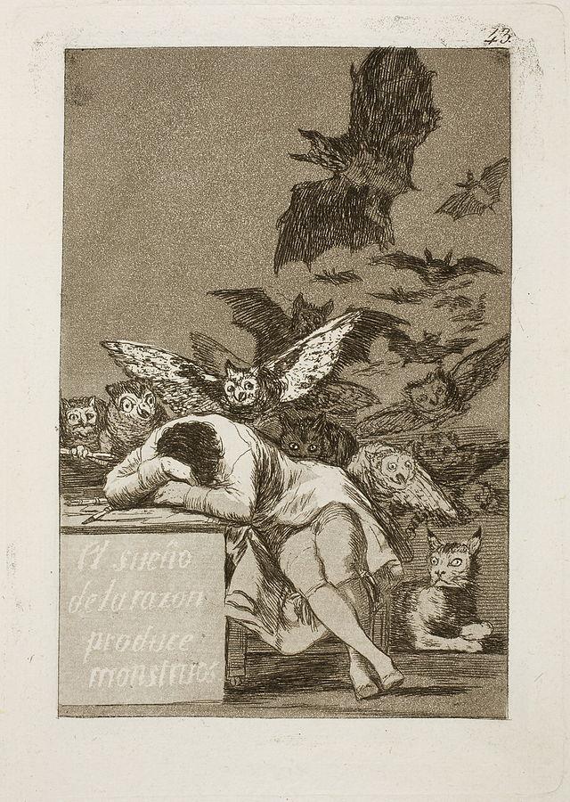 Szkic Francisco Goya. Źródło: wikimedia