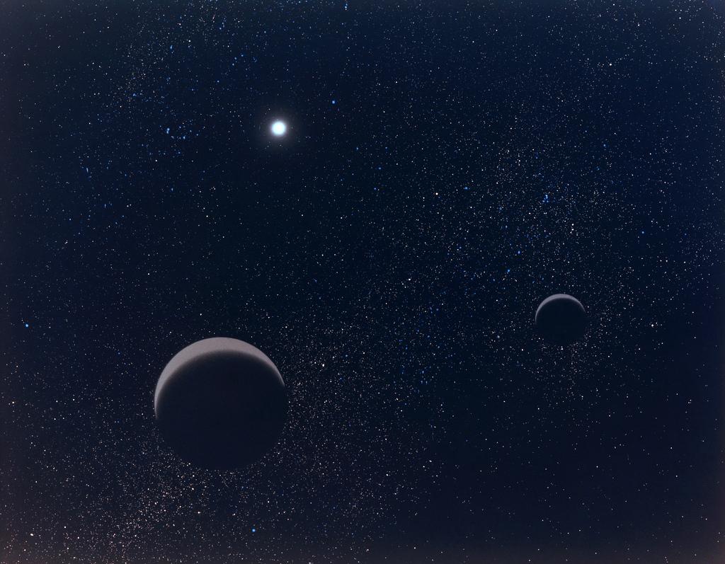 Obrazek z naszego kosmosu. Pluton i Charon. Źródło: https://flic.kr/p/7eCzjv