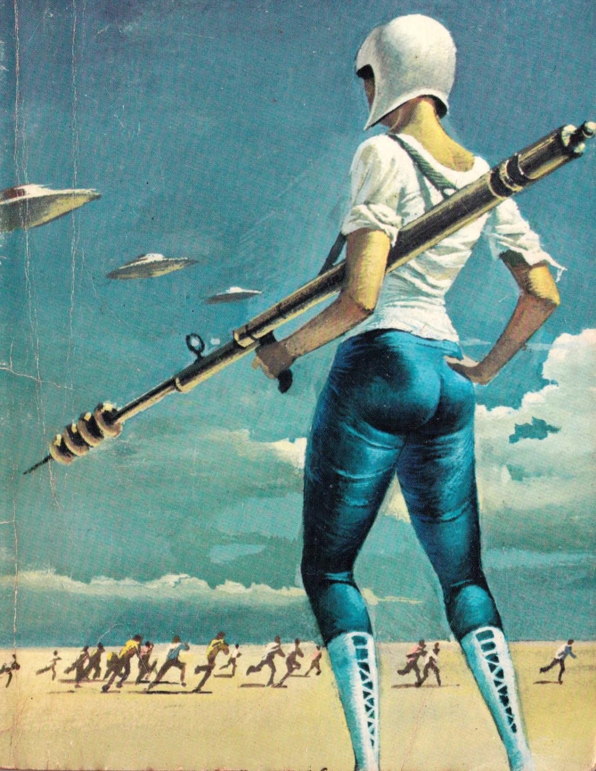 Bardzo ładna ilustracja. Podoba mnie się. Bruce Pennington - The Weapon Makers Źródło:  http://vitazur.tumblr.com/post/41614838863/bruce-pennington-the-weapon-makers