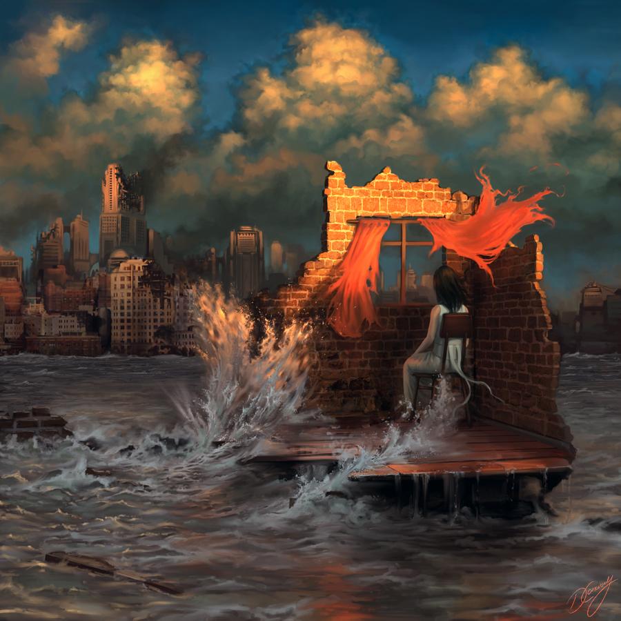 Świetna ilustracja. Świat się kończy moi drodzy. Źródło: http://digital-art-gallery.com/picture/gallery/post_apocalyptic