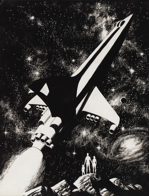 Ładne prawda? Wally Wood. Źródło: http://70sscifiart.tumblr.com/post/102435640990/wally-wood