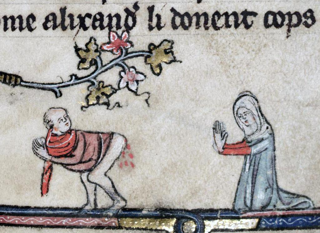 Podpis na blogu: holy hemorrhoid  Roman d'Alexandre, Tournai 1338-1344. Bodleian Library, MS. Bodl. 264, fol. 56r