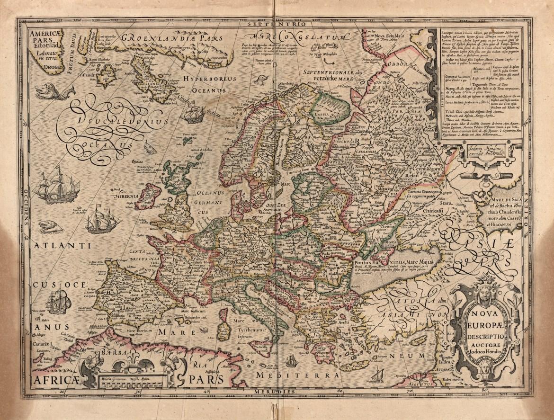 Mapa Europy z roku 1623. Źródło: https://flic.kr/p/jHxjtX