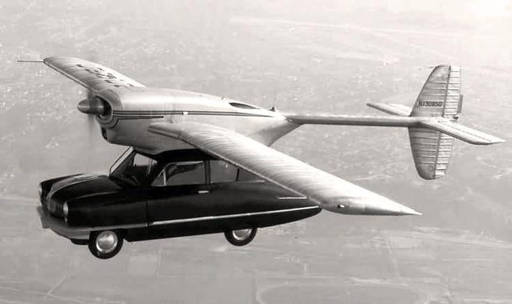Jeden z najczęstszych motywów jeśli chodzi o dziwne wynalazki - latający samochód. Źródło: http://www.pinterest.com/pin/230246599671742789/