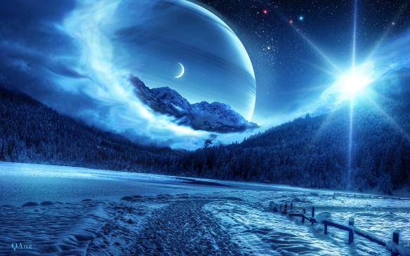Ładna zima w Majipoorze. Źródło: http://www.deviantart.com/art/Shine-in-Blue-345463167