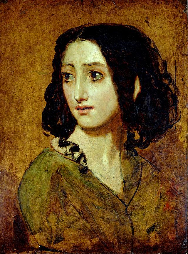 Prtret Racheli Felix pędzla Williama Etty'ego. Źródło: http://pl.wikipedia.org/wiki/Rachel_F%C3%A9lix#/media/File:Portrait_of_Mlle_Rachel_by_William_Etty_YORAG_988.jpg