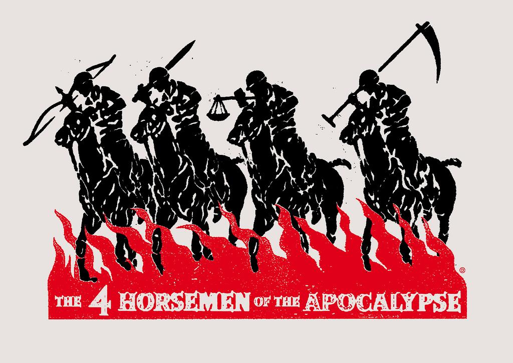 Czterech jeźdźców apokalipsy. Źródło: https://flic.kr/p/aqPt9r