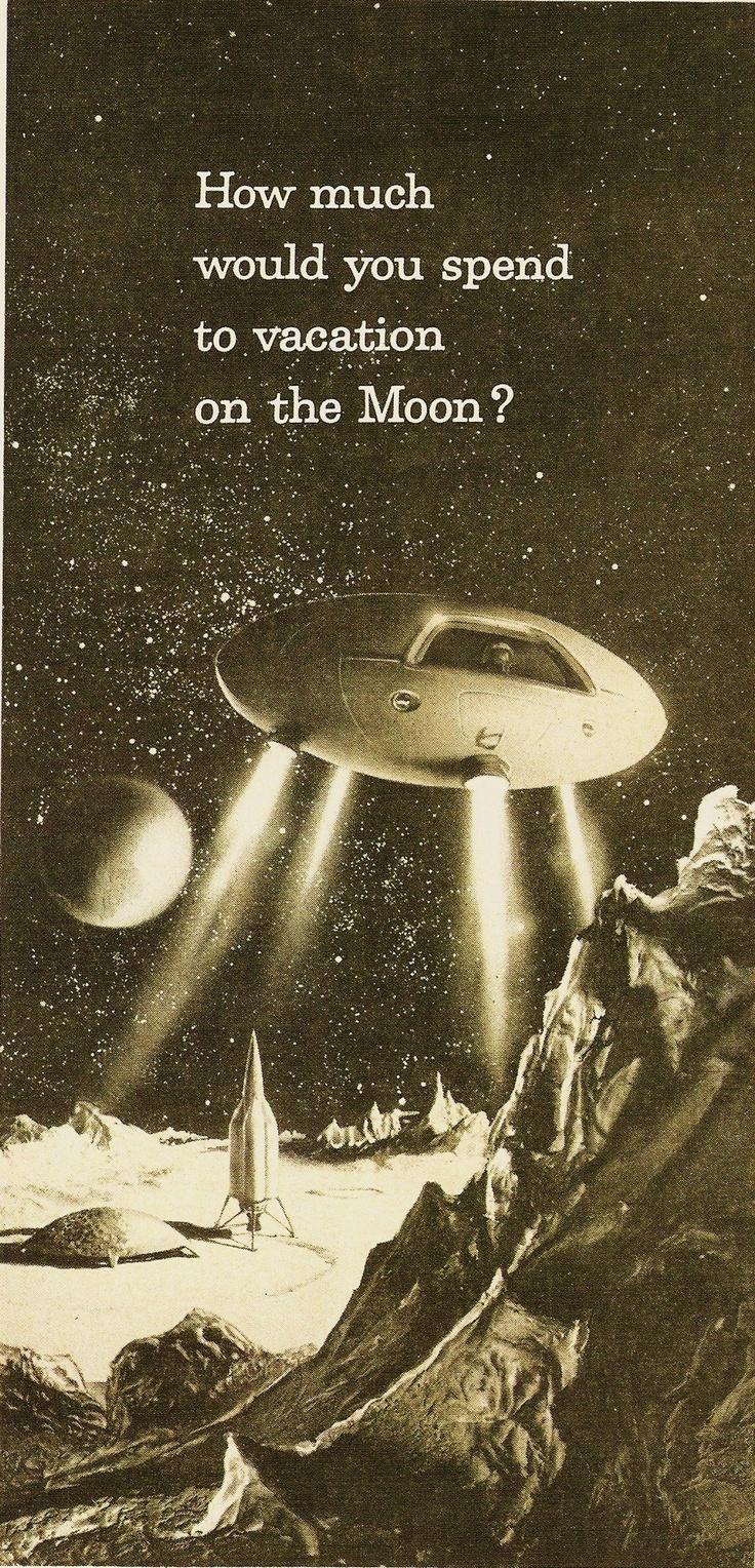 A Wy ile zapłacilibyście za wakacje na księżycu? Źródło: pinterest.com