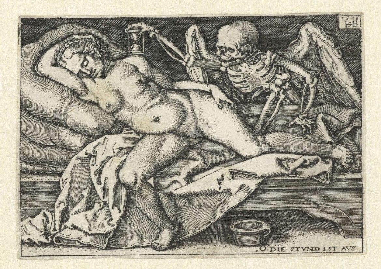 Śmierć i śpiąca kobieta