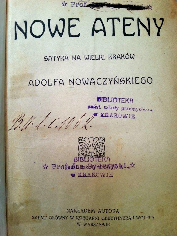 Strona tytułowa wydania oryginalnego.